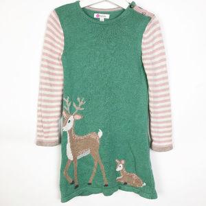 Baby Boden | knit Reindeer dress